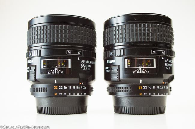 Nikon Nikkor 60mm 2.8 AF Micro D VS Non-D-1