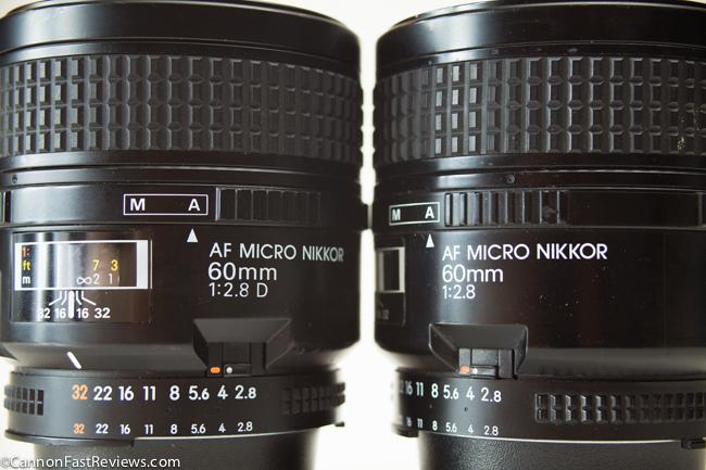 Nikon Nikkor 60mm 2.8 Macro AF D VS Non-D-2