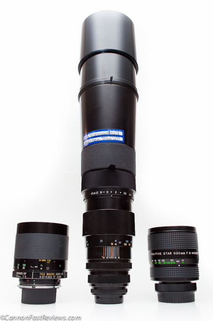 Pentax SMC Takumar 500mm f-4.5 Asahi VS Tamron SP f-8 Tour Five Star-2