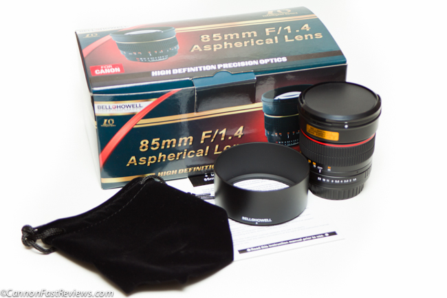 Bell Howell 85mm 1.4 Box-1