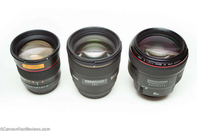 Canon 85mm f:1.2L ii EOS vs Sigma 1.4 vs Bower 85mm f1.4 Glass-4