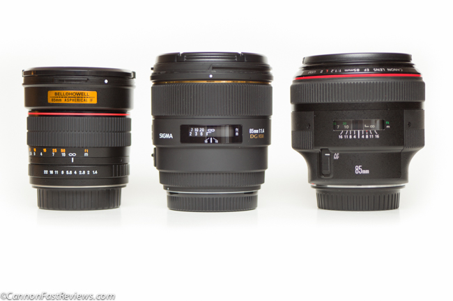 Sigma 85mm 1.4 vs Canon 85mm 1.2 L