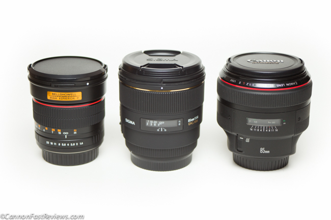 Canon 85mm f:1.2L ii USM vs Sigma 1.4 vs Pro Optic 85mm f1.4 Comparison-2