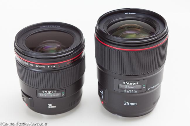 Canon 35mm 1.4 L ii BR USM EF VS Comparison 35mm 1.4 L EF USM non br-1
