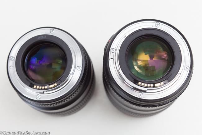 Canon 35mm 1.4 L ii BR USM EF VS Comparison 35mm 1.4 L EF USM non br best bokeh rear-1