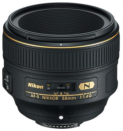 Nikon 58mm f-1.4 G AF-s Nikkor-1