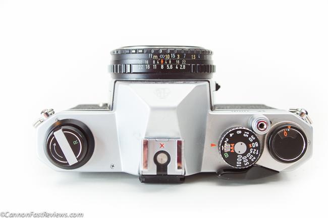 Pentax M K 40mm f-2.8 SMC Asahi Lens Pancake K1000 Body Size-2