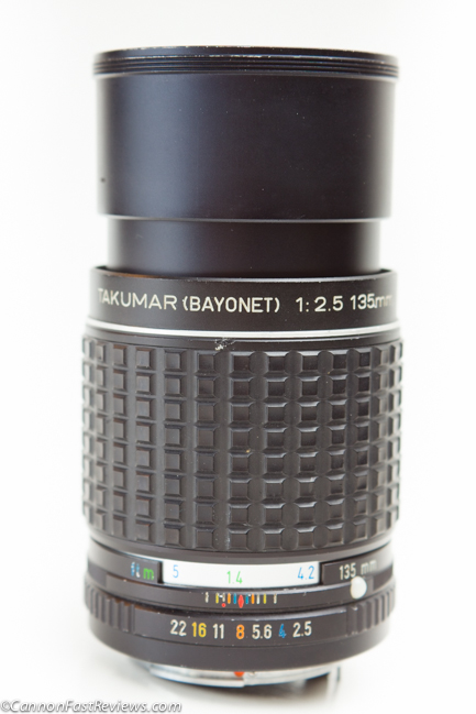 http://cannonfastreviews.com/wp-content/uploads/2013/10/Takumar-135mm-f-2.5-Review-Lens-Hood-1.jpg